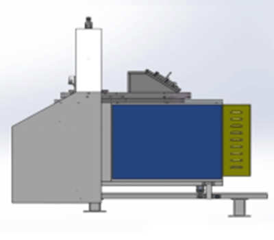 3D diagram of entire steel frame magnesium melting furnace